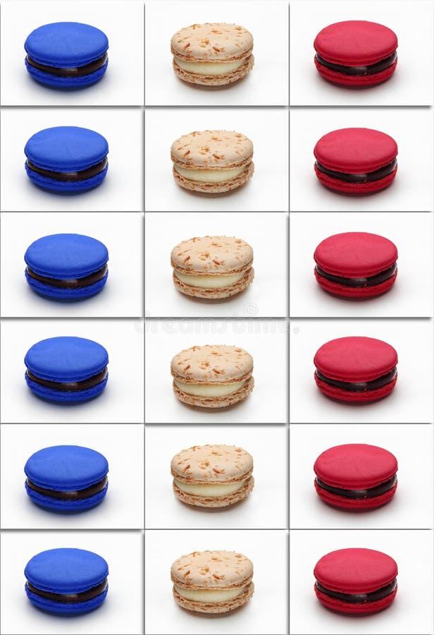 Macarons-Plakat-Frankreich-Flagge lizenzfreies stockfoto