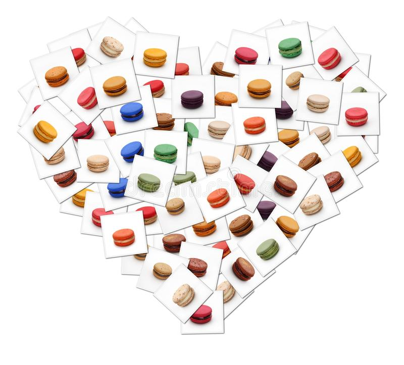 Macarons-Plakatherz stockbild