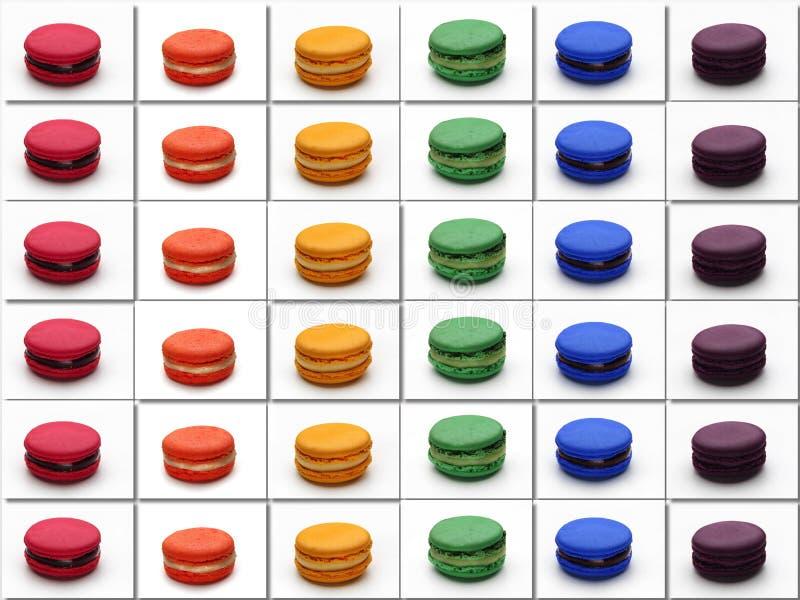 Macarons-Plakathomosexuellflagge lizenzfreie stockfotos