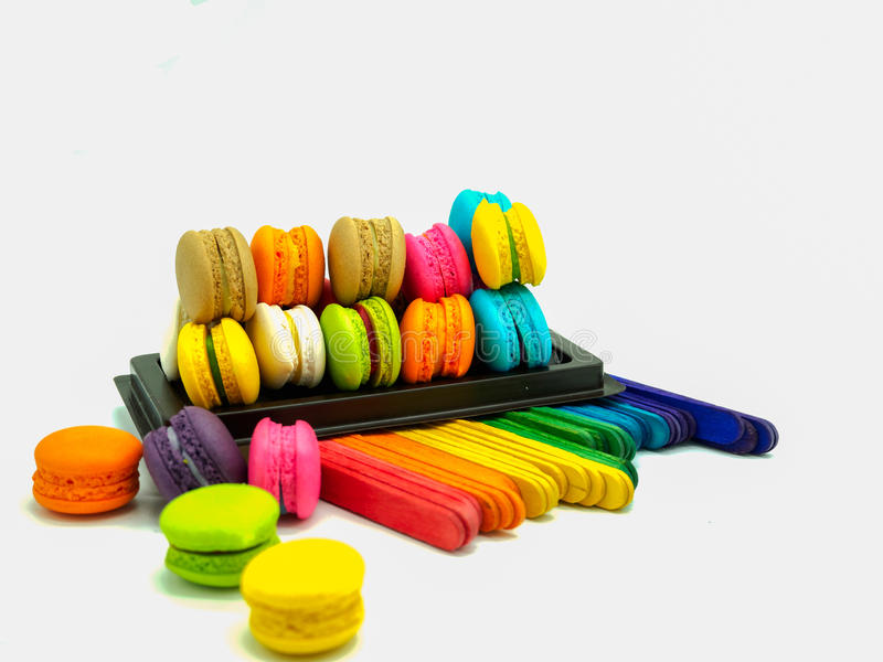 Download Macarons stock photo. Image of tasty, macaroon, delicious - 83724564