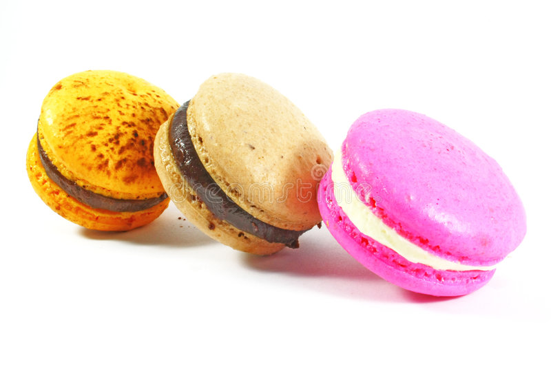 macarons trois images stock