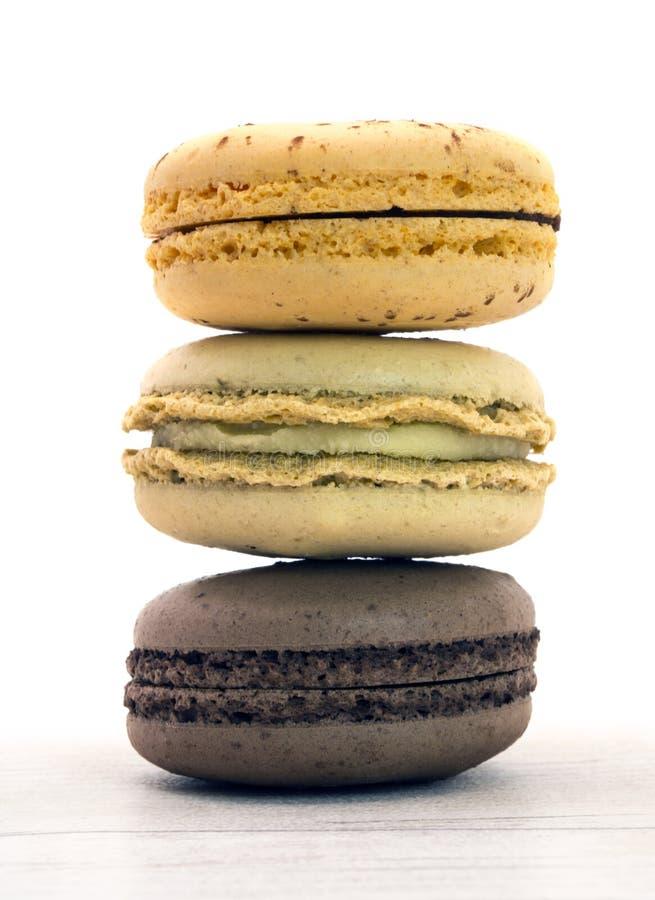 macarons trois images libres de droits