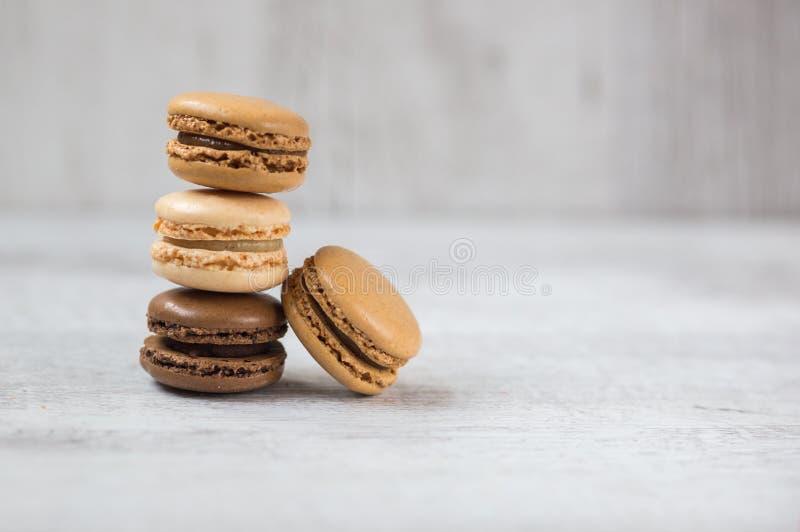 Macaroon μπισκότα με το διάστημα αντιγράφων στοκ φωτογραφία με δικαίωμα ελεύθερης χρήσης