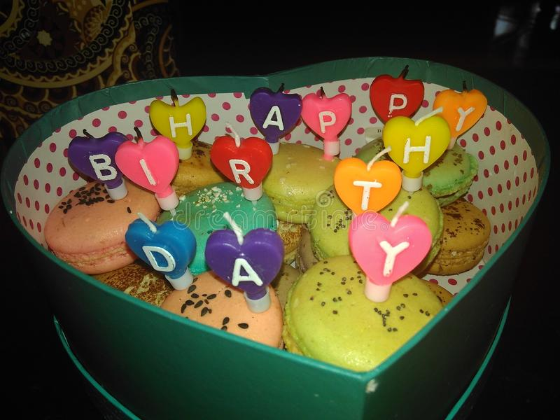 Macaroonbirthday foto de stock royalty free
