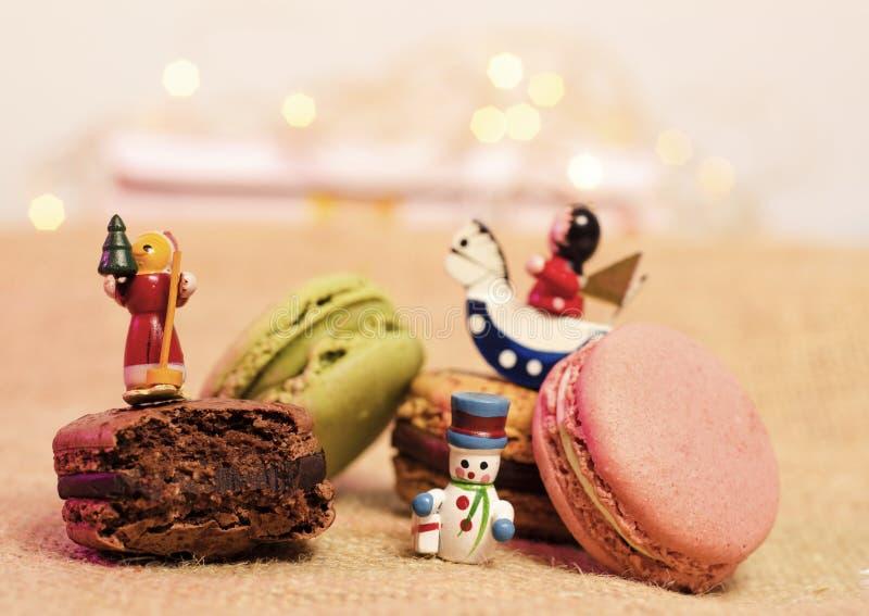 Macaroons Χριστουγέννων στοκ φωτογραφία