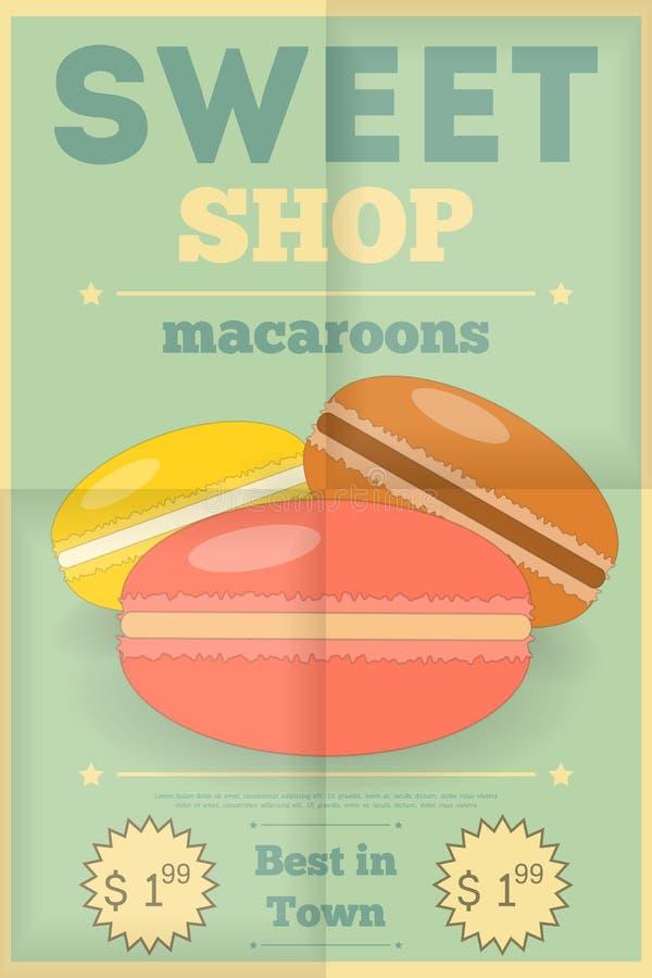 macaroons stock illustrationer