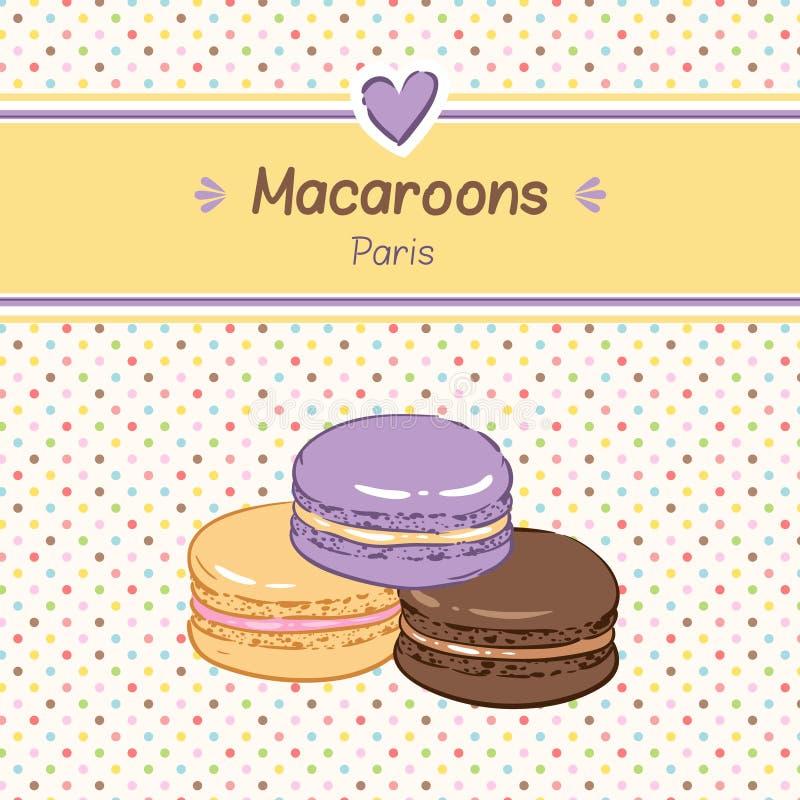 macaroons royaltyfri illustrationer