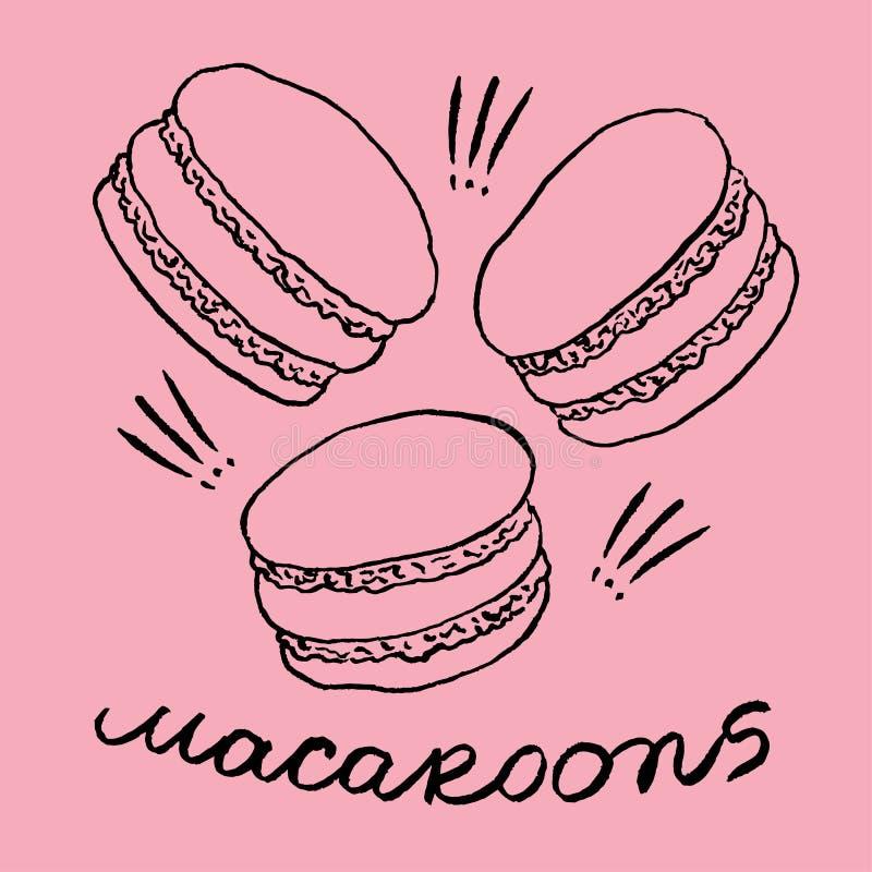 macaroons vektor illustrationer