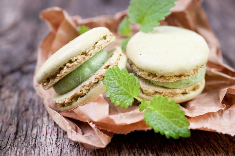 Macaroons com pistachio imagem de stock royalty free