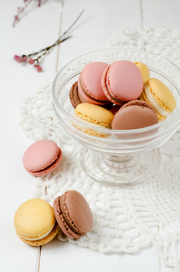 Macaroons franceses fotos de stock royalty free