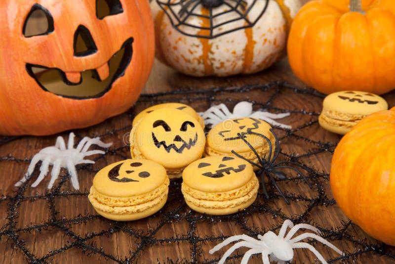 Macarrones de Halloween imagen de archivo