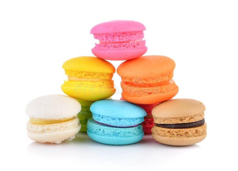 Macarrones o macaron franceses coloridos imágenes de archivo libres de regalías
