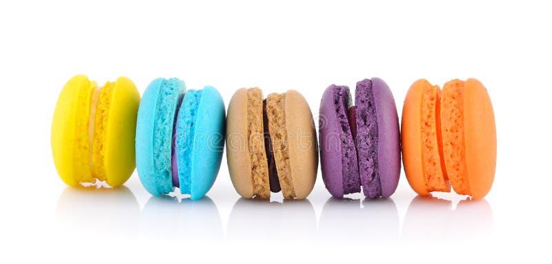 Macarrones o macaron franceses coloridos fotografía de archivo