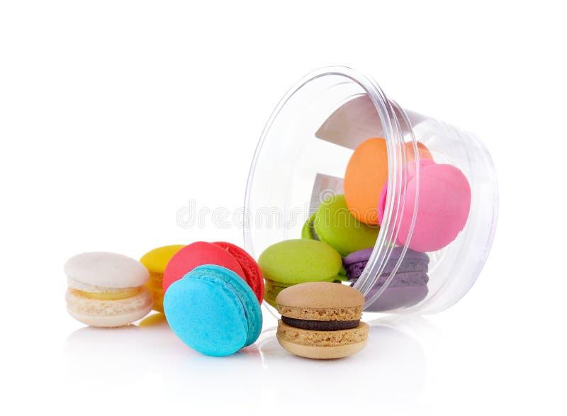 Macarrones o macaron franceses coloridos imagen de archivo