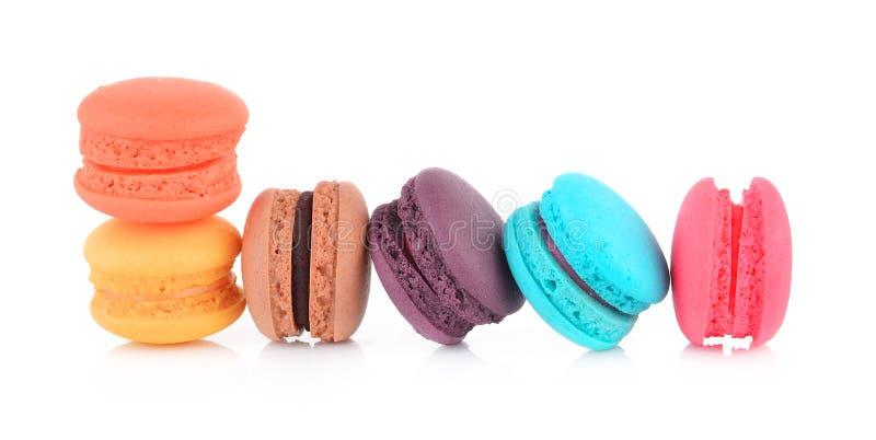 Macarrones o macaron franceses coloridos fotografía de archivo libre de regalías