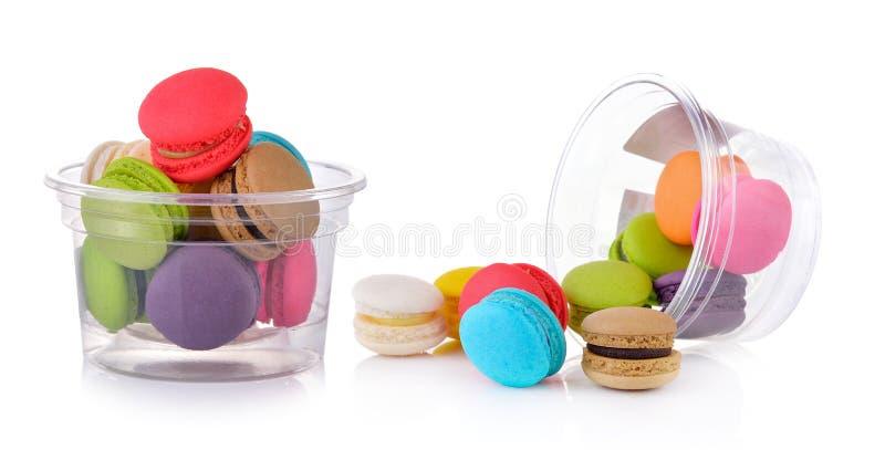 Macarrones o macaron franceses coloridos imagen de archivo libre de regalías