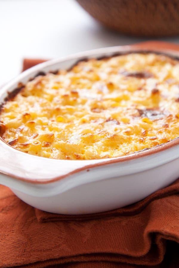 Macarrones y queso fotografía de archivo