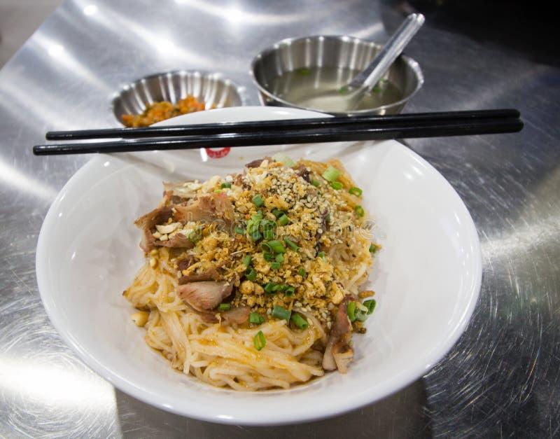 Macarronete de Shan com sopa fotos de stock
