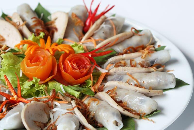 Macarronete de Vietnam com fatia e batata da carne de porco imagens de stock royalty free