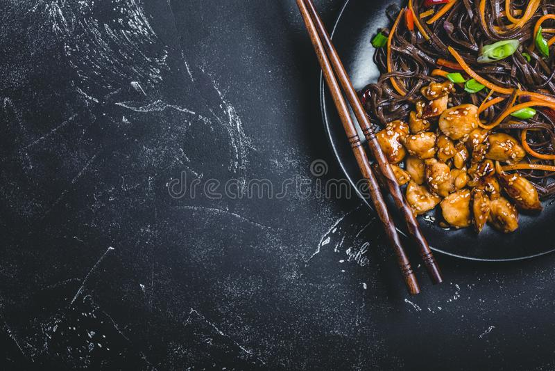 Macarronetes asiáticos do estilo imagem de stock royalty free