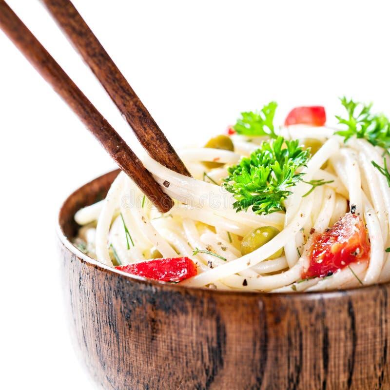 Macarronetes asiáticos do veg fotografia de stock royalty free