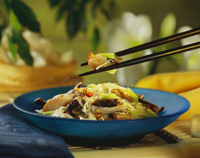 Macarronetes de arroz fotografia de stock royalty free