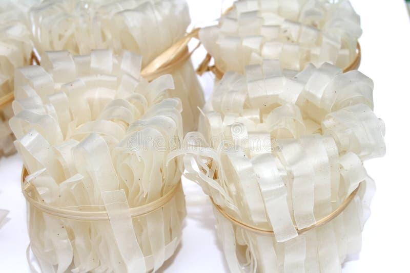 Macarronetes de arroz vietnamianos cozimento usado imagem de stock