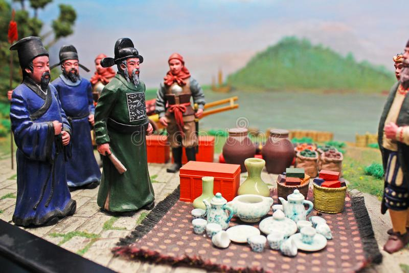 Macau Ancient Life Model, Macau, China stock images