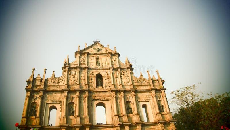Macau architektury dziejowe ruiny St Paul zdjęcia stock