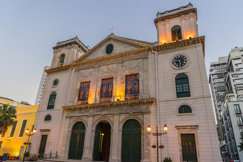 Macau Cathedral (The Historic Centre of Macau). Macau Cathedral is one of the historical building in The Historic Center of Macau, world heritage site royalty free stock photo