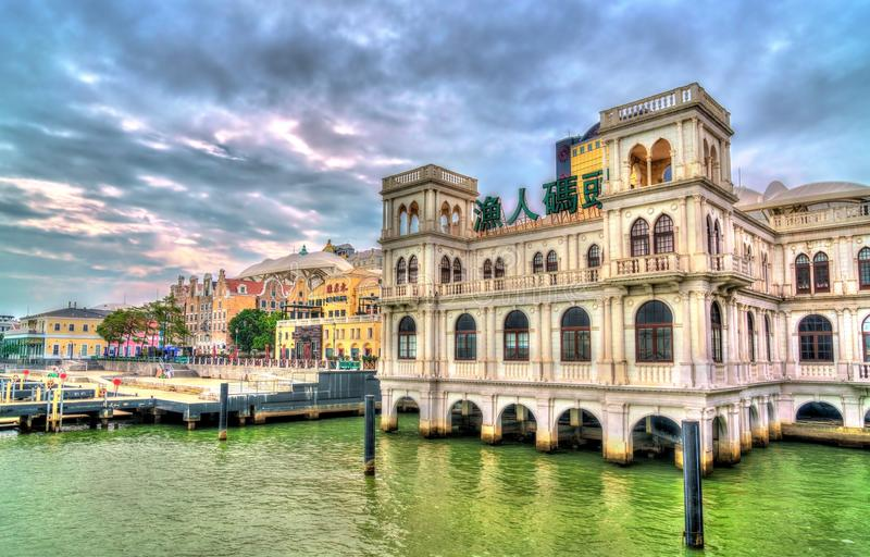 Houses at the Fisherman`s Wharf in Macau, China stock photography
