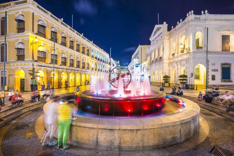 Macau, Chiny przy Senado kwadratem obraz royalty free