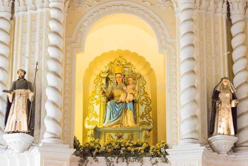 MACAU - 13 de dezembro de 2015: A igreja de St Dominic (local do patrimônio mundial) fotografia de stock royalty free