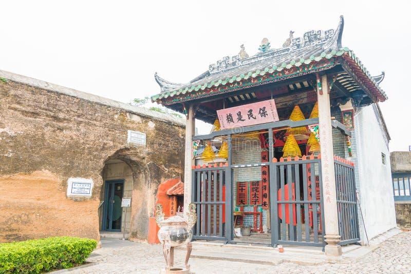 MACAU - Dec 13 2015: Na Tcha Temple(World Heritage site). a famous Historic Sites in Macau. stock photos