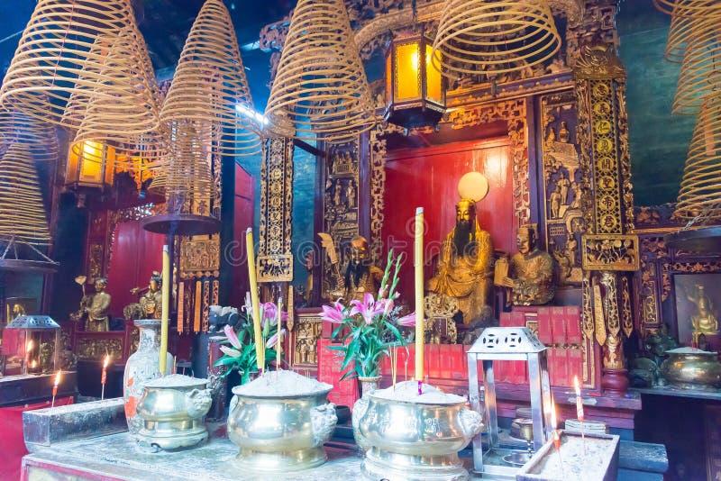 MACAU - Dec 13 2015: Sam Kai Vui Kuna (Guandi świątynia) sławny Wo zdjęcia royalty free