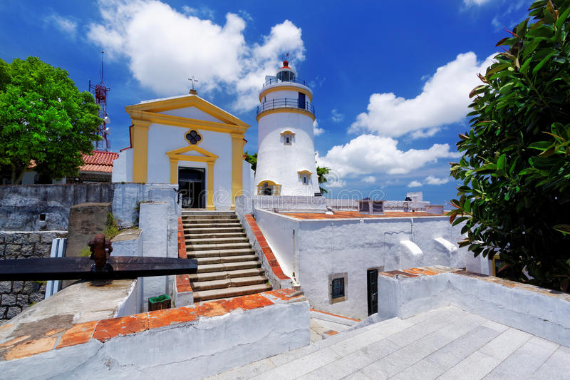 Macau famous landmark, lighthouse stock images