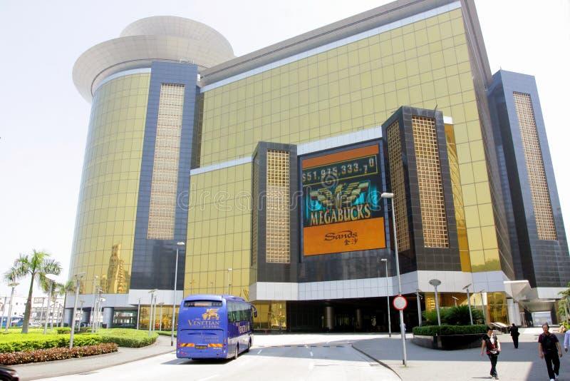 Macau: Hotel delle sabbie fotografia stock libera da diritti