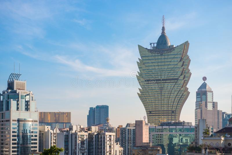 Macau - January 15, 2018 :The cityscape of Macau view from the M stock images