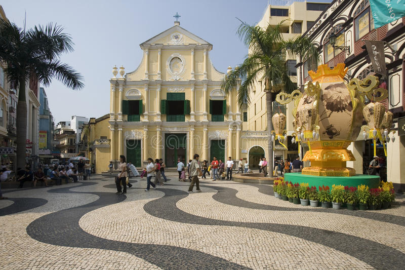Macau - Largo do Senado royalty free stock photos