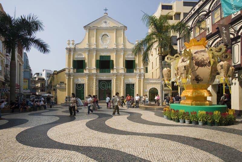 Macau - Largo robi Senado zdjęcia royalty free