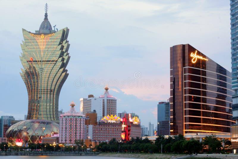 Macau: Lisboa uroczysty Hotel & Wynn Hotel zdjęcia stock