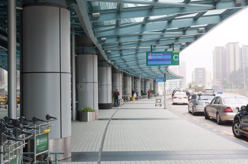 Macau lotnisko międzynarodowe zdjęcie stock