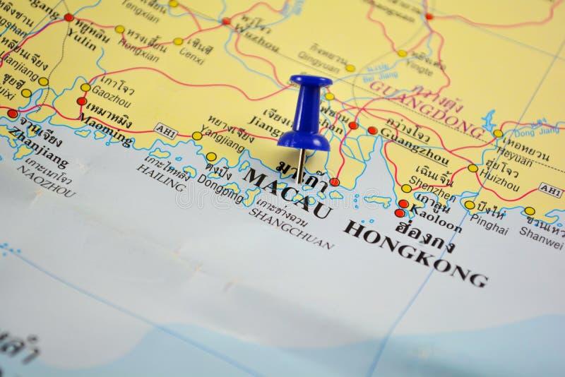 Macau map stock image