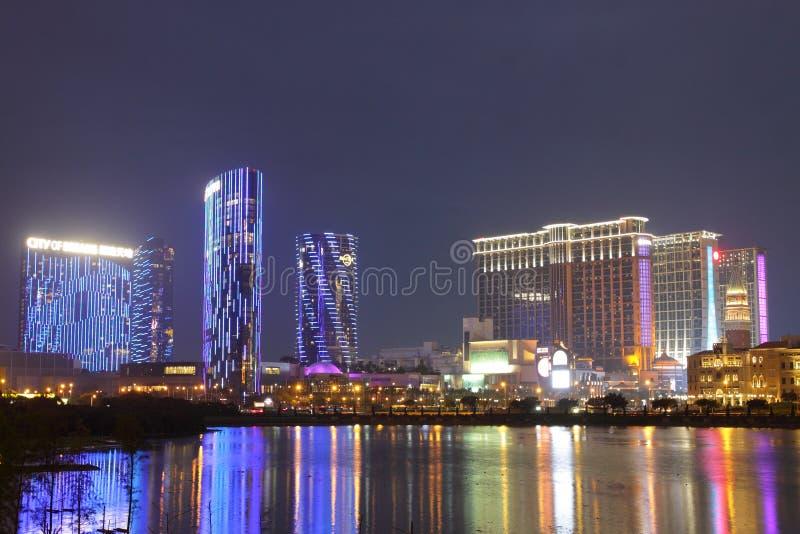 Macau: Miasto sen & piasków Contai centrala zdjęcia stock