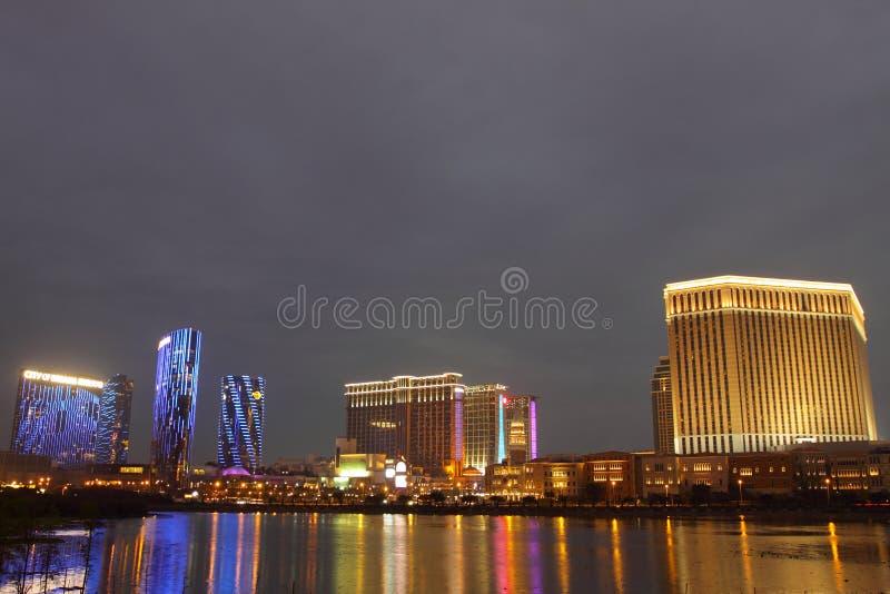 Macau: Miasto sen, piaska Contai centrala & Ven, obraz stock