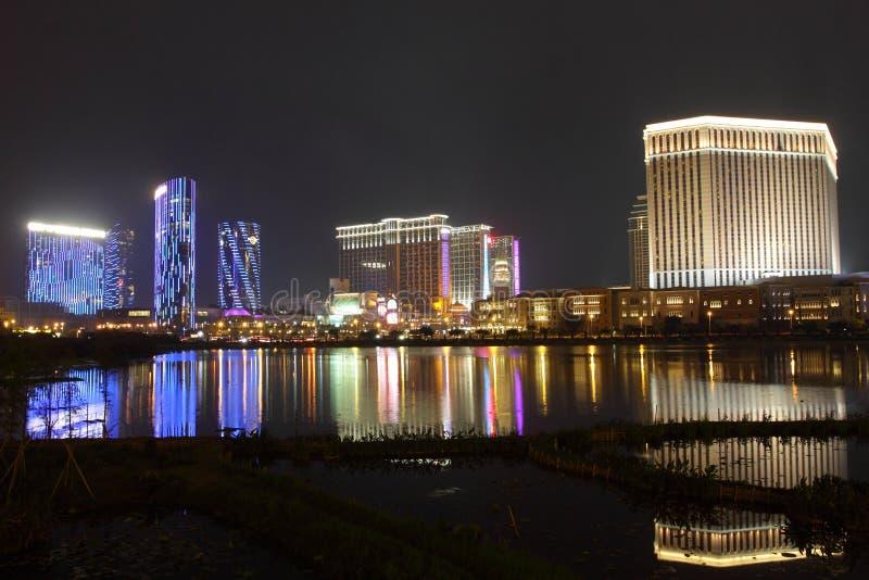 Macau: Miasto sen, piaska Contai centrala & Ven, obraz royalty free