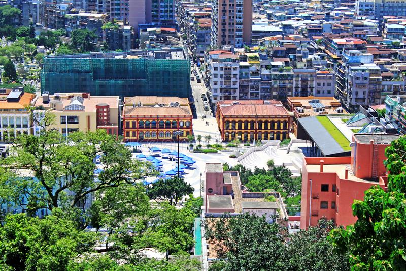 Macau Modern Building and Cityscape, Macau, China stock images
