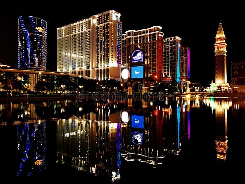 Macau nocy widoki obrazy royalty free