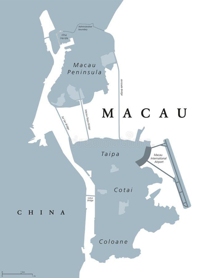 Macau political map stock vector Illustration of ilha 97280325