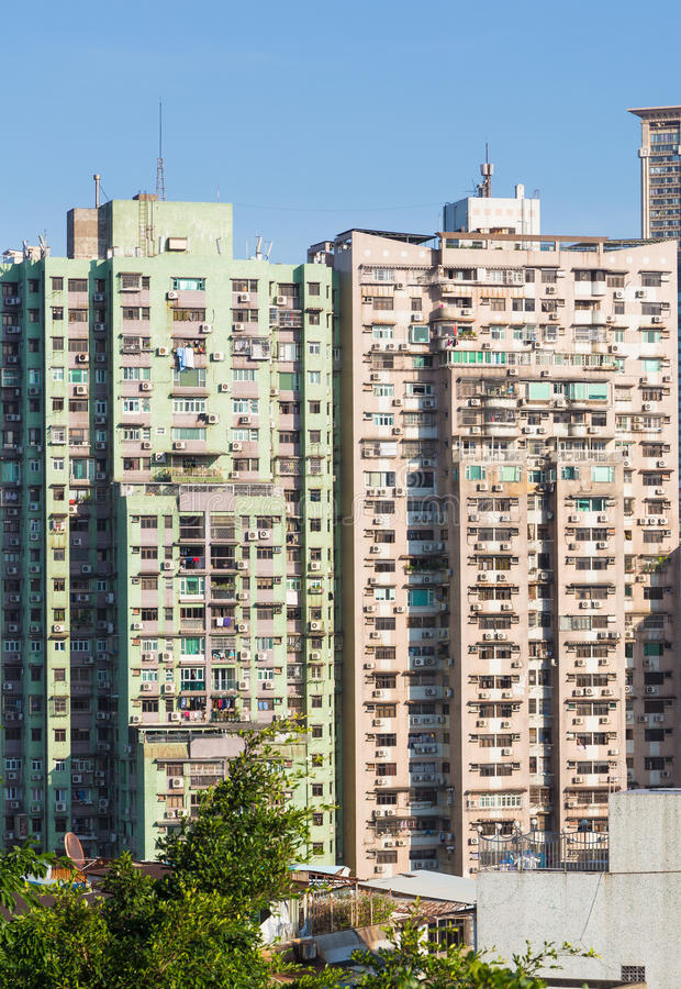 Macau residential high density stock photography